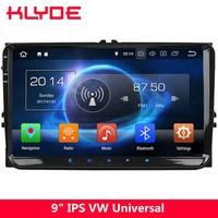KLYDE 9 4G Octa Core Android 8 4GB+32GB Car DVD Player Stereo Radio For VW Tiguan Caddy Touran Lavida Sharan Sagitar Amarok T5