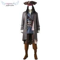 Пираты Карибского моря: Dead Для мужчин не рассказывают сказки Джек Воробей Костюмы для косплея этап Перфор Для мужчин ce одежда идеальный Пол