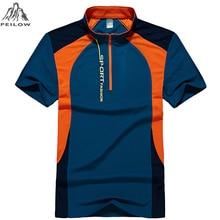 PEILOW men womens Brand Polo Shirt outwear Breathable short Sleeve Summer Shirt Quick-Dry sporting Shirt plus size 3XL,4XL,5XL