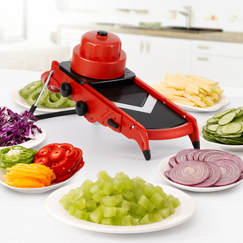 Fruit Vegetable Cutters Stainless Steel 4IN 1 Dicer Slicer Shredders Grater Carrot Salad Potato Kung Pao Chicken Cutting Machine