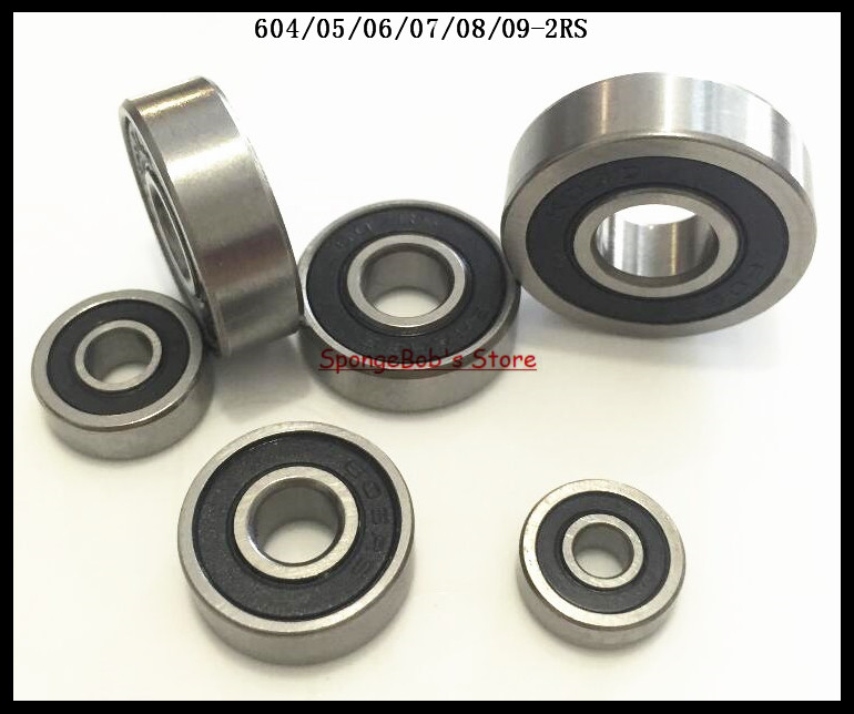 30pcs/Lot 604-2RS 604 RS 4x12x4mm Rubber Sealed Ball Bearing Miniature Bearing Deep Groove Ball Bearing 1pc 6217 2rs 6217rs rubber sealed ball bearing 85 x 150 x 28mm