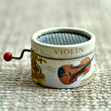 Violin Paper Hand Crank Music Box