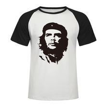 2019 Che Guevara Hero Men T Shirt High Quality Printed Cotton Short Sleeve Raglan T-Shirts Hipster Pattern Tee Cool Men Clothes two tone raglan sleeve tee