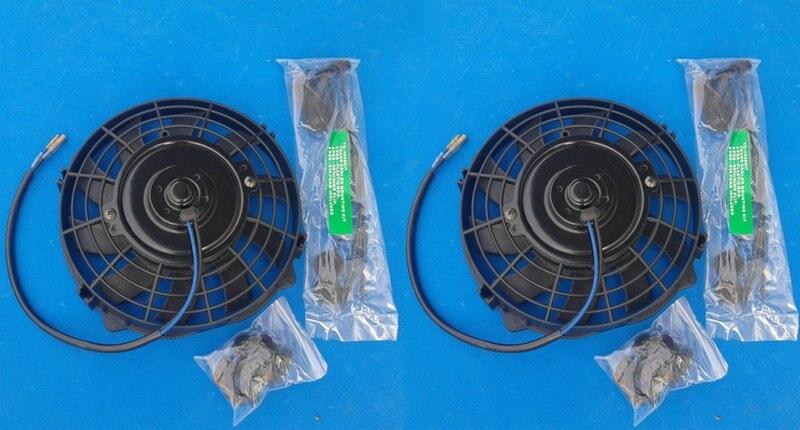 "1 X 16/"" Blue Electric Slim Push Pull Engine Bay Cooling Radiator Fan Universal 3"