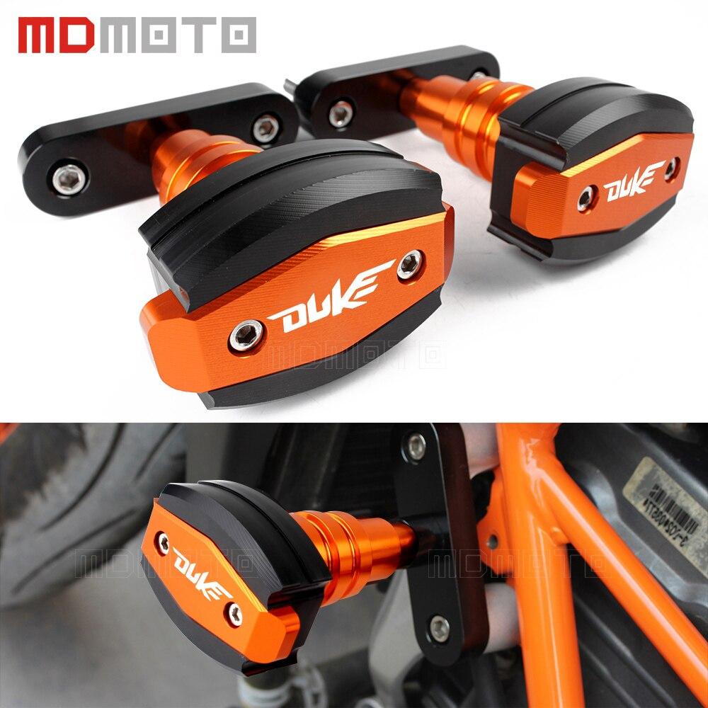 Pour KTM DUKE 125 200 390 duke 2013-2016 pour ktm 990 2007-2012 CNC en aluminium moto Protection contre les chutes cadre curseurs protecteur