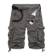 Мужские военные карго шорты, брендовые новые армейские камуфляжные тактические шорты, мужские хлопковые свободные рабочие повседневные шорты размера плюс