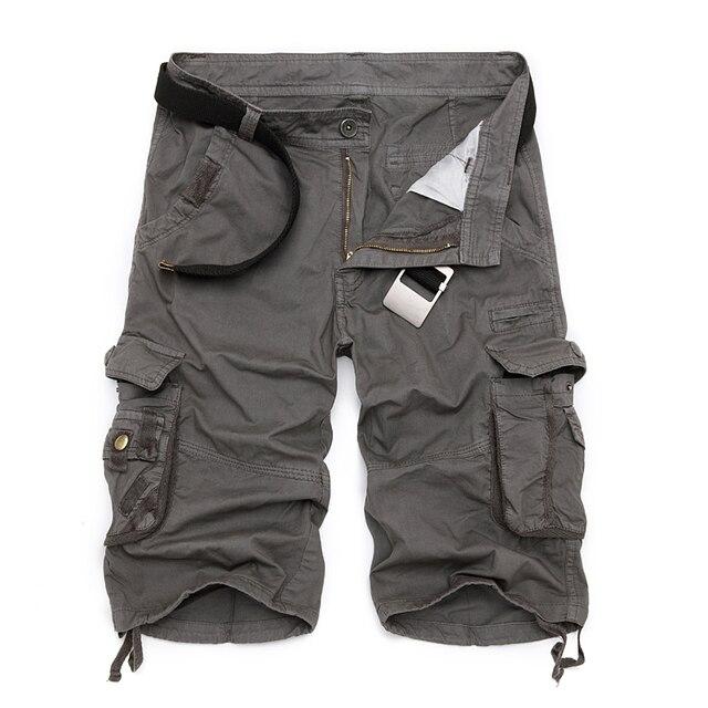 Męskie szorty wojskowe Cargo 2019 marka nowa armia kamuflaż taktyczne szorty męskie bawełniane luźne pracy dorywczo krótkie spodnie Plus rozmiar