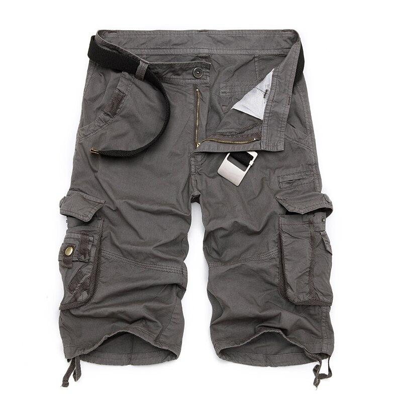 Mens Shorts de Carga Militares 2019 Brand New Camuflagem Do Exército Tático Calções Homens Algodão Solto Trabalho Casual Calças Curtas Plus Size