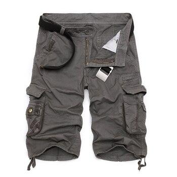 Pantalones cortos militares de carga para hombre 2019 a estrenar ejército camuflaje táctico pantalones cortos de algodón de trabajo holgado Casual talla grande
