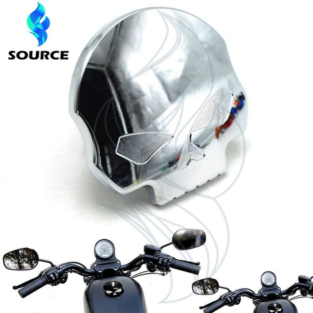 Para Harley Sportster Dyna Softail FXD FL XL FLT cromo Acessórios da motocicleta crânio aluinum fueml gas tampa do tanque de óleo quente venda