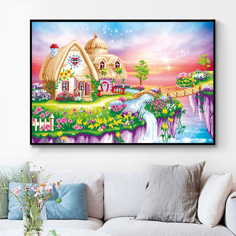 Home Decor,Home Decorations for Living Room DIY 5D Diamond Painting Embroidery Part Round Diamond Home Decor Gift