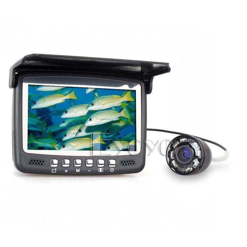 Eyoyo 1000TVL Ice Fishing Underwater Camera 15M 4.3 inch LCD Monitor 8 LED Night Vision Camera Fish Finder eyoyo 1000tvl ice fishing underwater camera 15m 4 3 inch lcd monitor 8 led night vision camera fish finder
