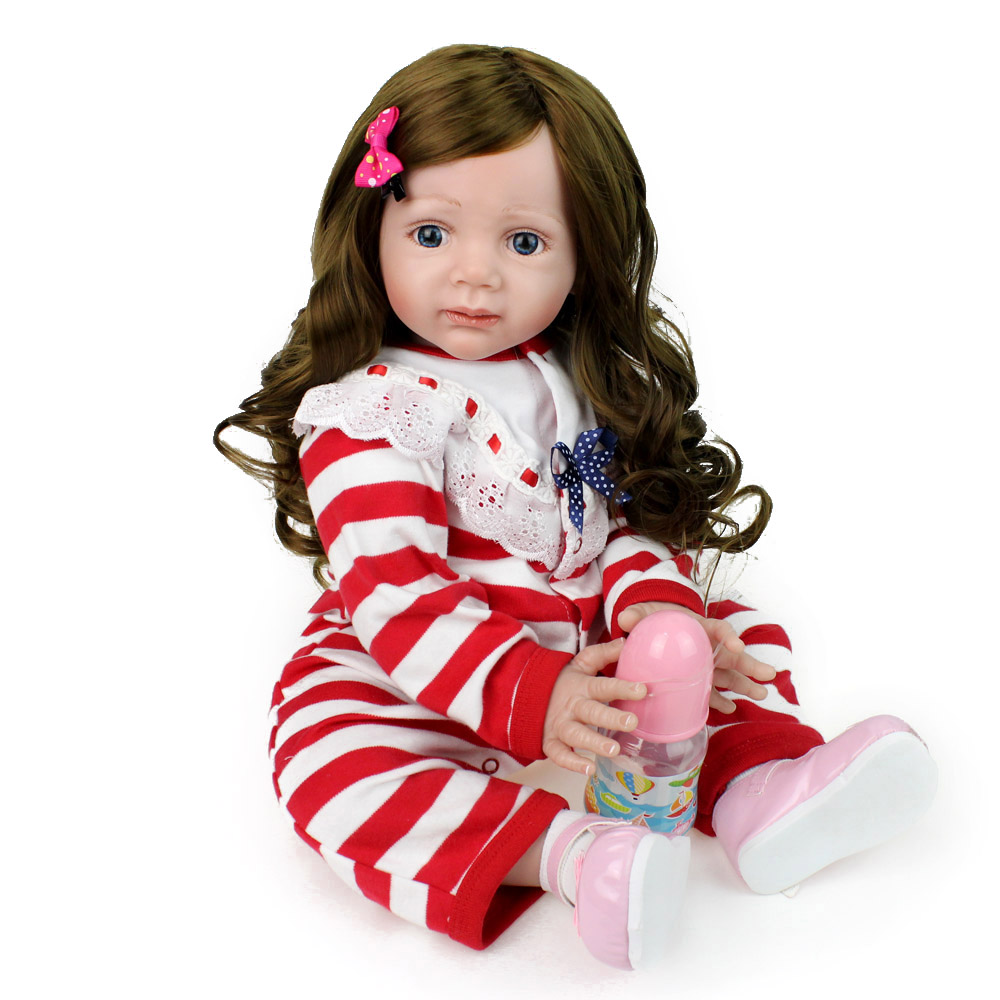 24 pouces reborn silicone princesse enfant en bas âge poupée Reborn bébé poupée lol jouets à la main réaliste filles à collectionner poupée jouer maison bébé