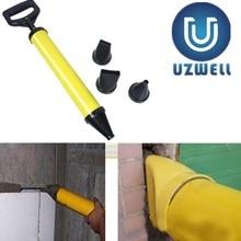 Pistola per silicone Mayitr di Puntamento di Mattoni Stuccatura Malta Spruzzatore Applicatore Strumento per Cemento calce Con 4 Ugelli