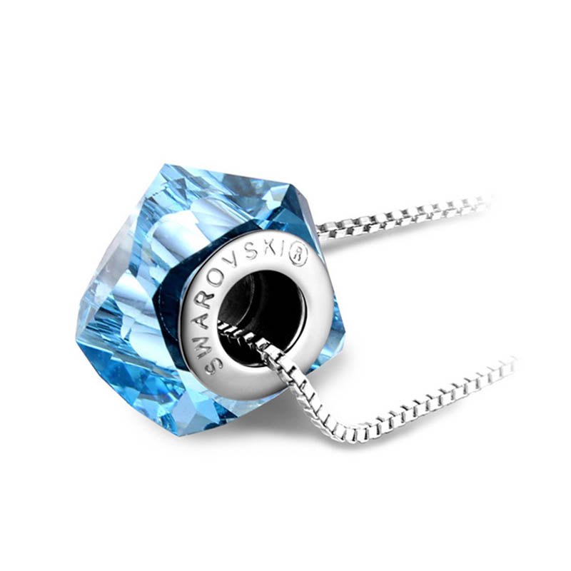 High quality Original 100 Crystals from Swarovski Elements Becharmed Helix Bead Pendant Necklaces With Brand Logo
