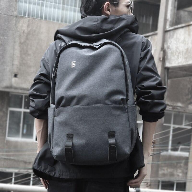 FYUZE New Men Backpacks 15.6inch Laptop Male computer rucksack Fashion Leisure Travel backpack bag anti thief