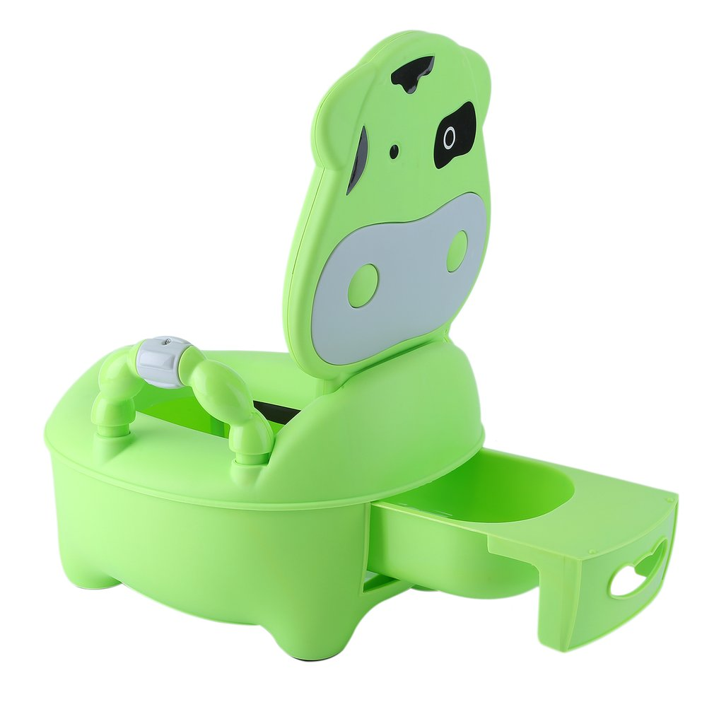 Portable Baby Potty Multifunction Baby Toilet Cow Children Potty Training Boys Girls Toilet Seat Kids Chair Toilet Trainer Hot penguin style baby potty toilet trainer