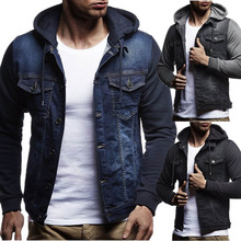Zogaa 2019 spring New Fashion Men Denim Jacket Cowboy Cotton Slim Fit Single Breasted Casual Spring Male Coat  S-3XL