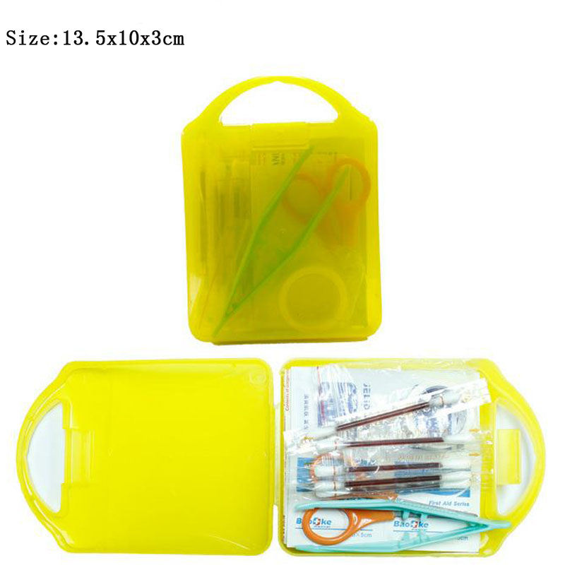 Transparent Visual PP First Aid Emergency Kit Outdoor Waterproof For Family Camping Travel Emergency Medical Treatment DJJB034