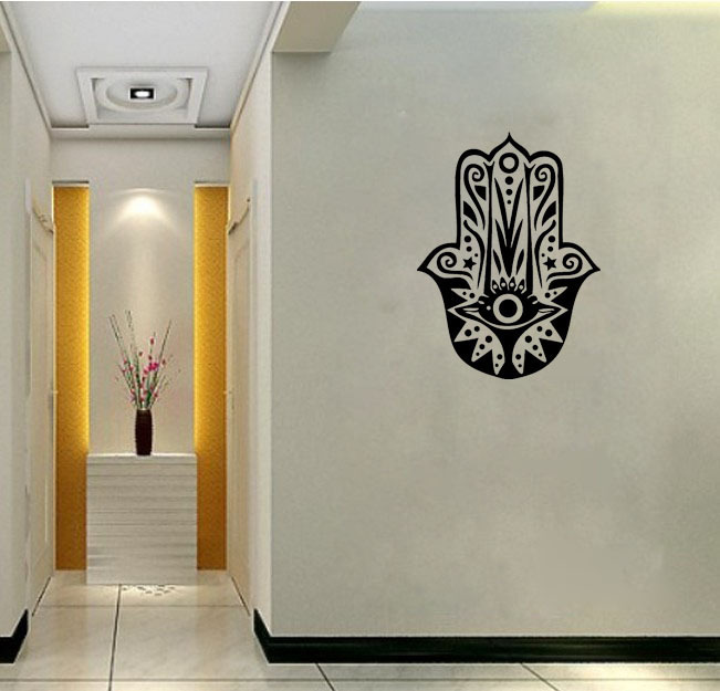 Hamsa Wall Decals Vinyl Stickers Home Decor Removable Living Room Pictures Wallpaper Art Murals In From Garden On