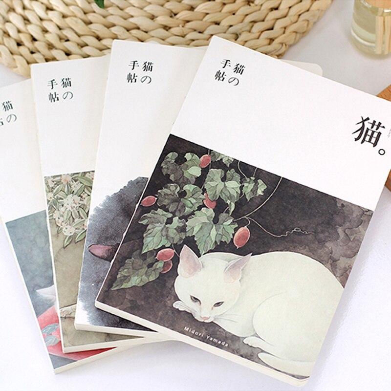 Nette Katze notebook A5 größe 80 blatt tagebuch Japanische zakka buch Stationery Office zubehör schulbedarf F865
