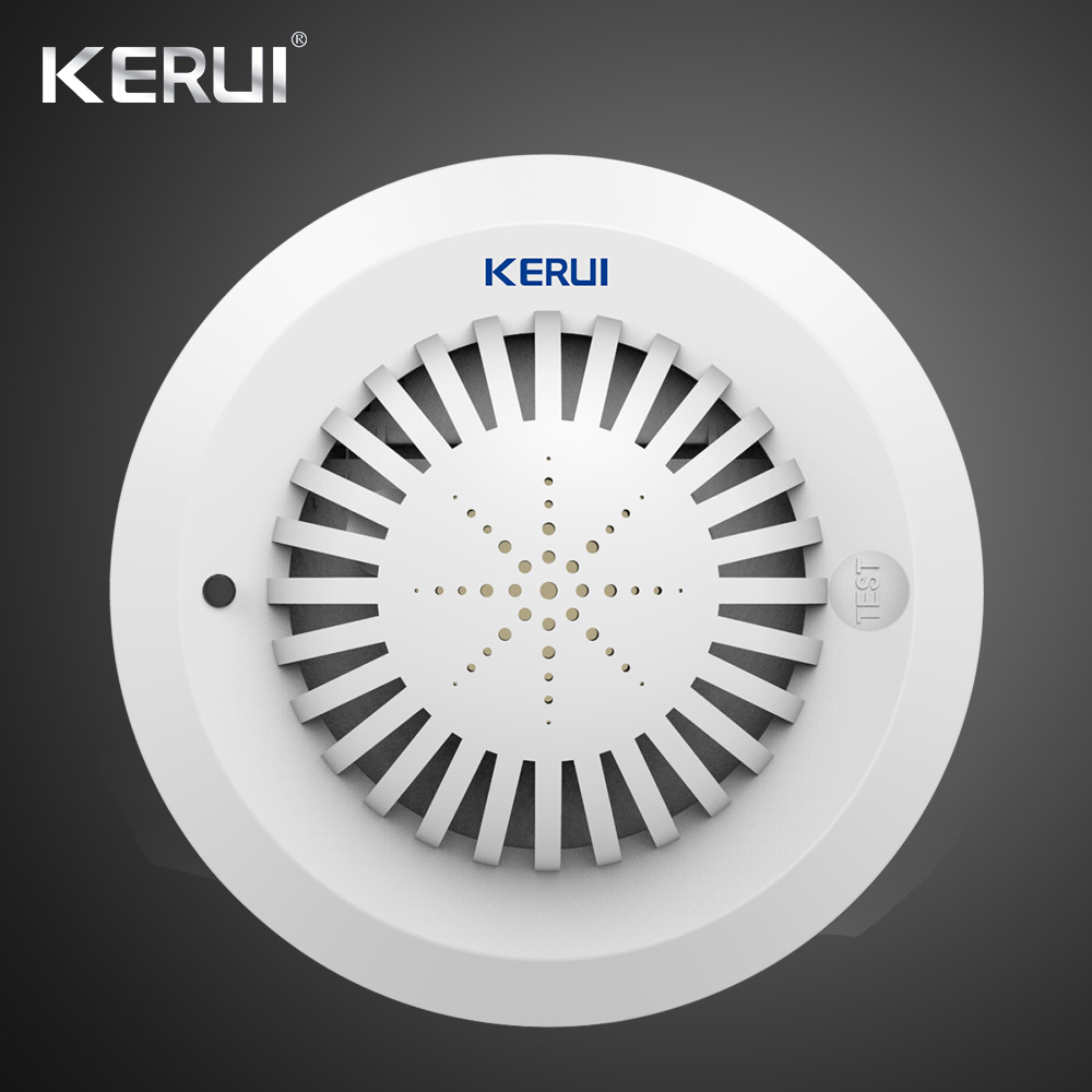 KERUI SD03  High Sensitivity Fire Smoke Alarm Fire Security Smoke Detector Voice Prompts For Home Security Alarm System 1