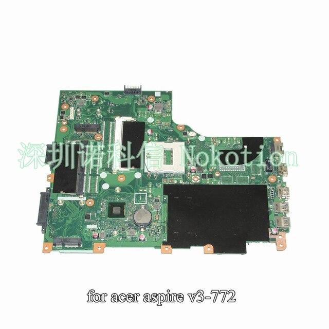 NOKOTION Notebook PC Motherboard For Acer  v3-772 v3-772g Main Board System Board DDR3L PGA947 EA VA70HW