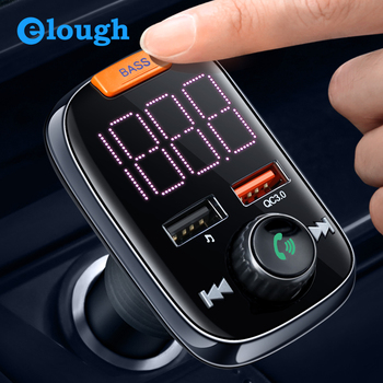 Elough Quick Charge 4.0 Car Multi Fast Charger Bluetooth Phone Fm Transmitter Car Audio MP3 Player Handsfree for Xiaomi Redmi