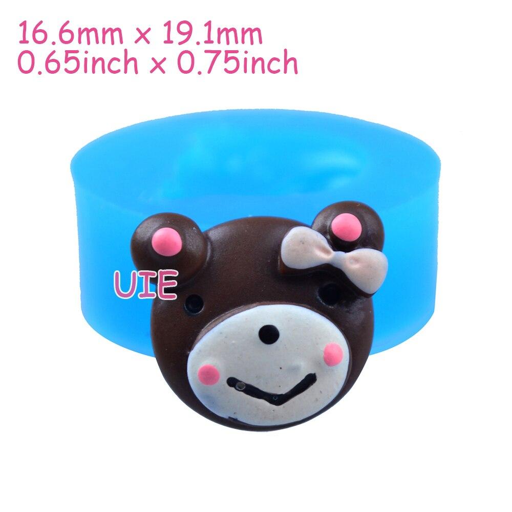 Qyl174u 19.1 мм медведь шоколадное печенье силиконовые Push Mold-торт украшения, помадка, зефир, смола, конфеты, ювелирные изделия Еда безопасный