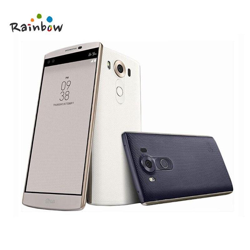 Débloqué Original LG V10 H900 5.7 4 gb RAM 64g ROM Unique Sim avec Multi Langue Android 16MP hexa Core 4g LTE Mobile Téléphone