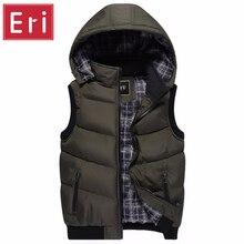 2017 marke Weste Winter Neue Herrenmode Oberbekleidung Freizeit Weste Coat Warm Ärmel Jacke Männer Military Weste X355