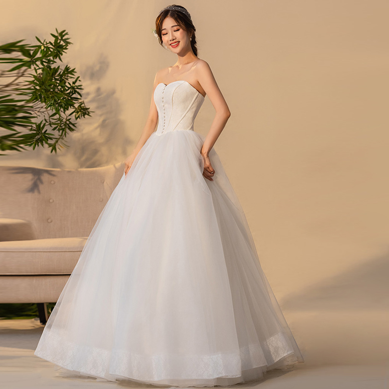 Saudi Arabic Simple Cheap Wedding Dresses Ivory 2019 Bridal Gowns