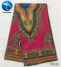 LIULANZHI Java african wax fabric veritable 100%Cotton Hot sale ankara real for sewing YJ126-YJ136