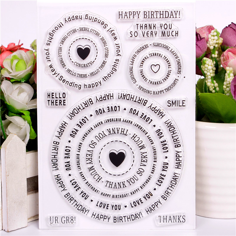 Christmas Transparent Clear Silicone Stamps for DIY Scrapbooking//Card Making 9H
