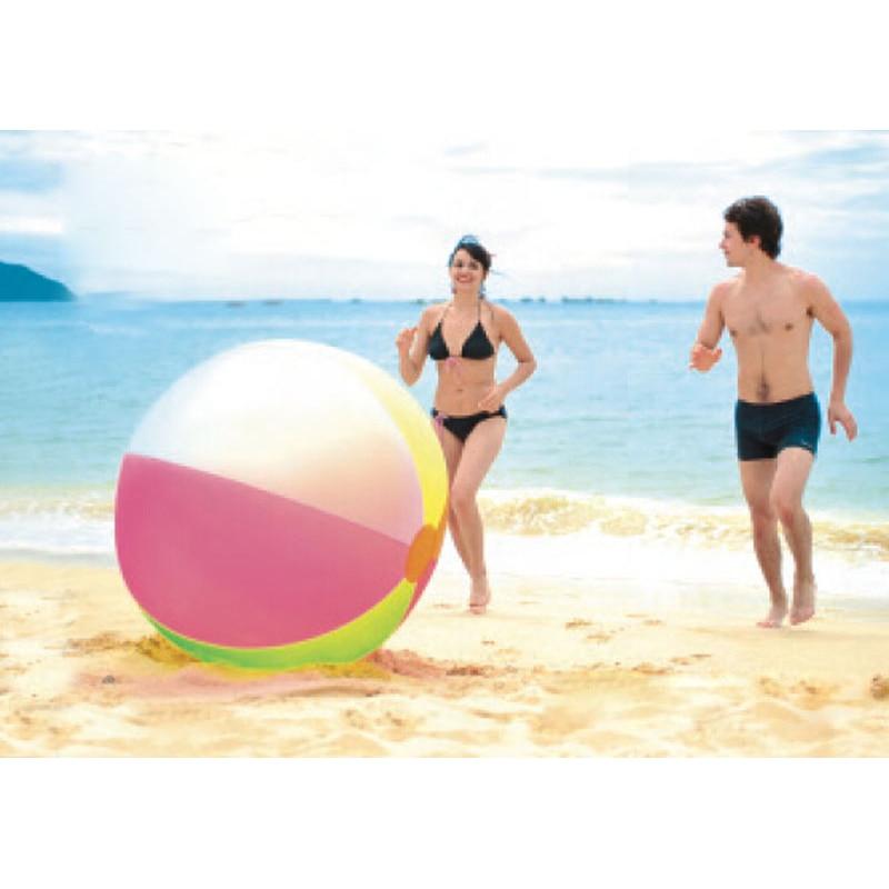 Súper grande 80 cm bola inflable de PVC niño bola de playa del aire del niño piscina al aire libre gigante bola de juguete de juguete deporte agua juego B38002