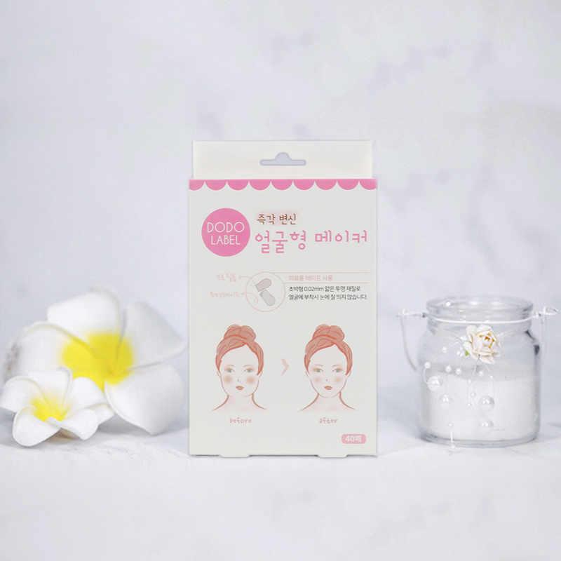 40 unids/set InvisibleThin cara artefacto pegatinas línea Facial arrugas piel en forma de V cinta de estiramiento Facial Scotch para estiramiento Facial herramienta de TSLM1