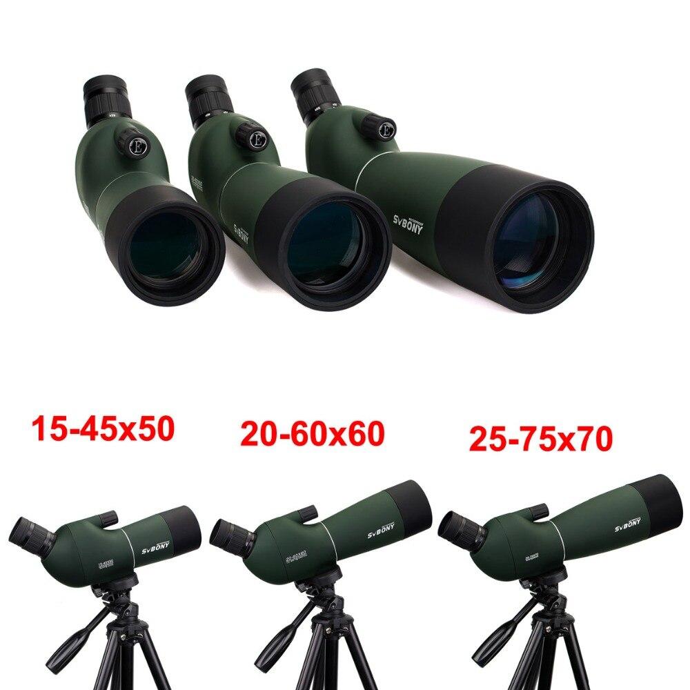 Svbone SV28 50/60/70mm 3 Types longue-vue étanche Zoom télescope + trépied coque souple pour l'observation des oiseaux cible tir à l'arc F9308Z - 3