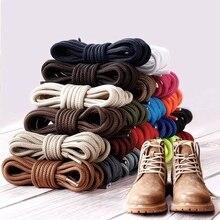 1 пара Круглый полиэфирные шнурки для ботинок однотонная женская классическая обувь на шнурках; Повседневное спортивные ботинки обувные шнурки для шнуровки 70 см/90 см/120 см/150 см 21 Цвет