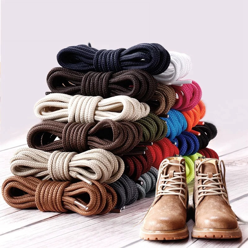 1Pair Round Shoelaces Polyester Solid Classic Shoelace Casual Sports Boots Shoe Laces Strings 70cm/90cm/120cm/150cm 21 Color