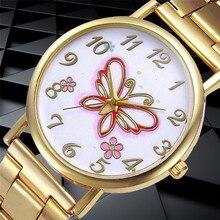 Relogio Femino  New Fashion Women Crystal Stainless Steel Analog Quartz Wrist Watch Bracelet kol saat relogioi SEP16