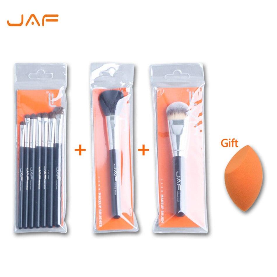 Acheter 3 Obtenir 1 Cadeau [teint Éponge Blender] JAF Classique 7 pcs fard à paupières brosses + joue maquillage brosse + fondation make up brush