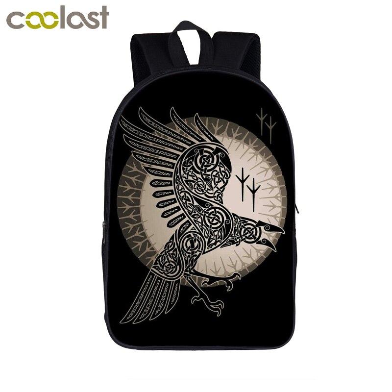 Vikings Raven Valhalla / Son Of Odin Backpack Women Men Daypack Teenager Boys Girl School Backpack Book Bag Children Book Bag
