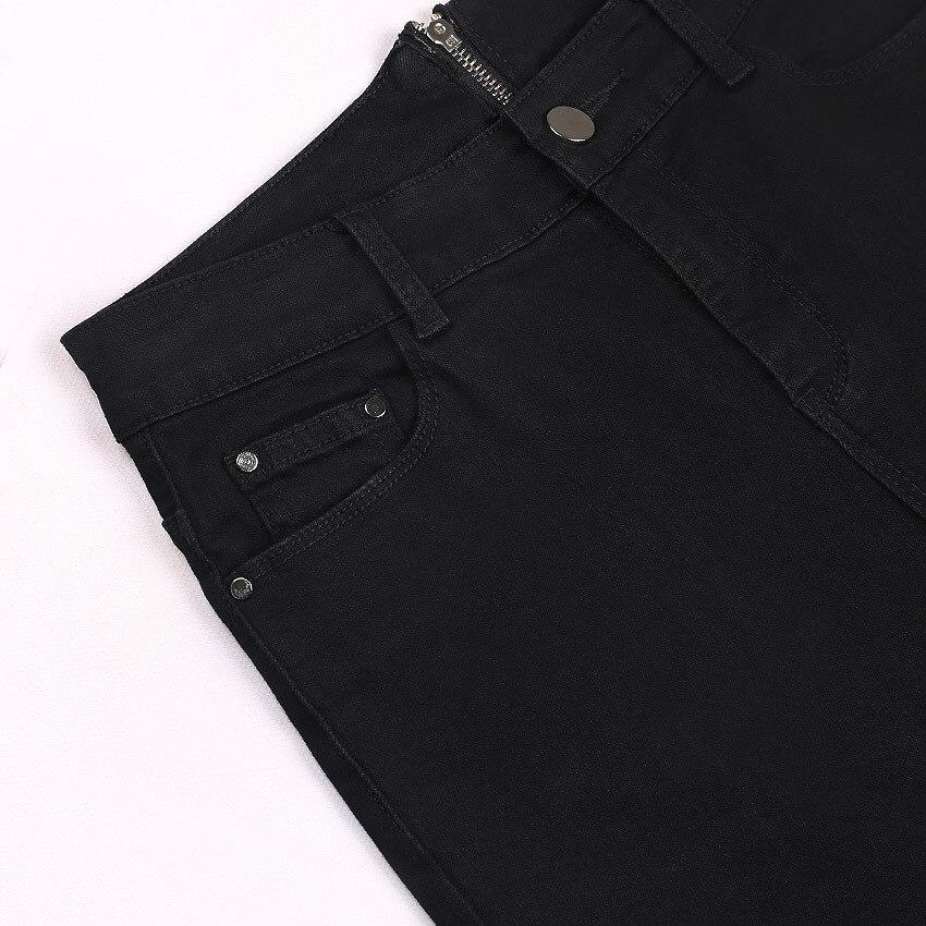 Mode kvinnor jeans byxor flickor hög midja dragkedja jeans kvinnor - Damkläder - Foto 5
