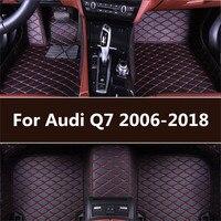 leather car floor mats for Audi Q7 2006 2007 2014 2015 2016 2017 2018 Custom auto foot Pads automobile carpet covers