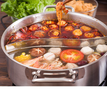 Stainless Steel Hotpot Soup Cookware kitchen cooking tool Pan Large Capacity cooker Thick baking food Cooker Pots Stew  TG21