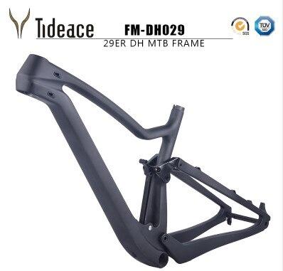 2018 nouveau 29er Pleine Suspension VTT Vélo Carbone 29er pleine suspension cadre 142*12 Thru Axle frein à disque Vtt cadre