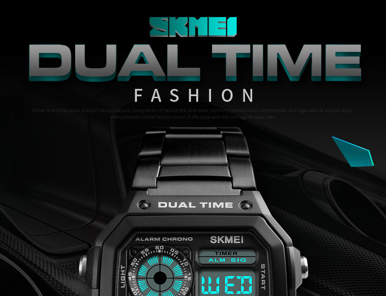SKMEI Top Luxury Fashion Sport Watch Men 5Bar Waterproof Watches Stainless Steel Strap Digital Watch reloj hombre 1335 HTB1Hop2iYYI8KJjy0Faq6zAiVXaL