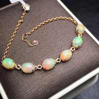 Beaux bijoux en or Rose 18 K AU750 G18K 100% naturel AU opale pierres précieuses amour bijoux bracelets pour femme Bracelet fin