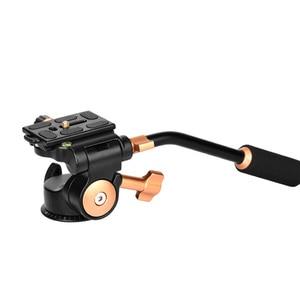 Image 5 - SOONPH Q08S אלומיניום 3 דרך נוזל ראש זרוע נדנדה וידאו חצובה כדור ראש עבור Canon ניקון Sony Fujifilm DSLR מצלמה חצובה חדרגל