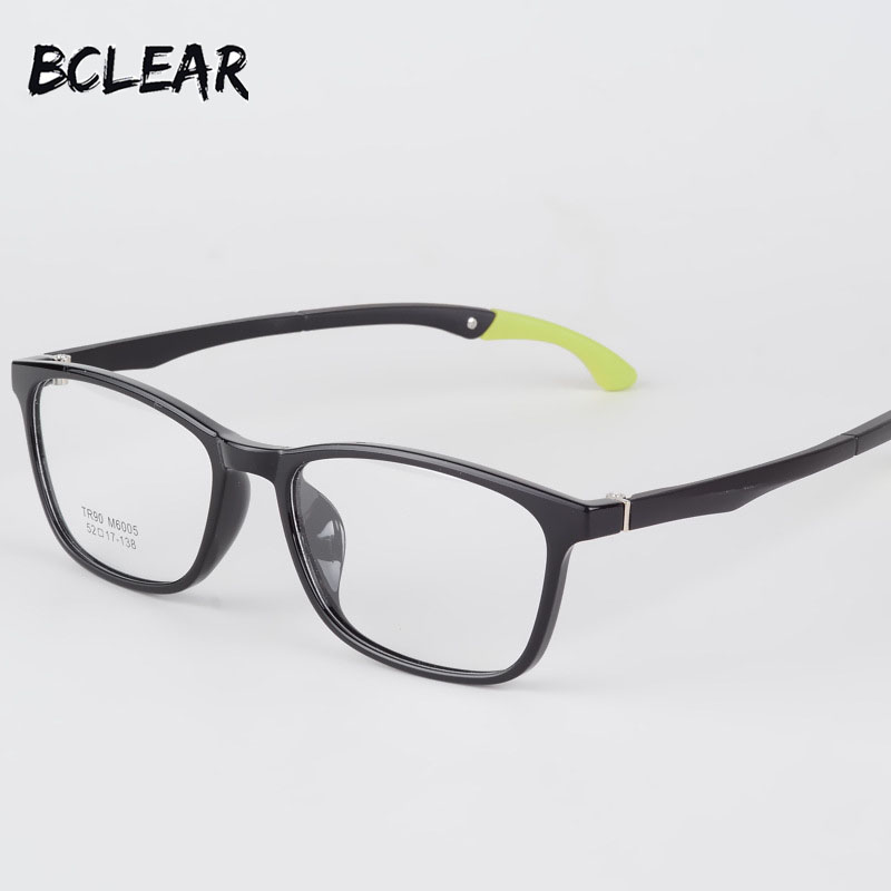 BCLEAR Fashion Full Rim TR90 Sports Optical Frame Legs Folding Adjustable Spectacle Eyeglasses Unisex Eye Frames Myopia Glasses